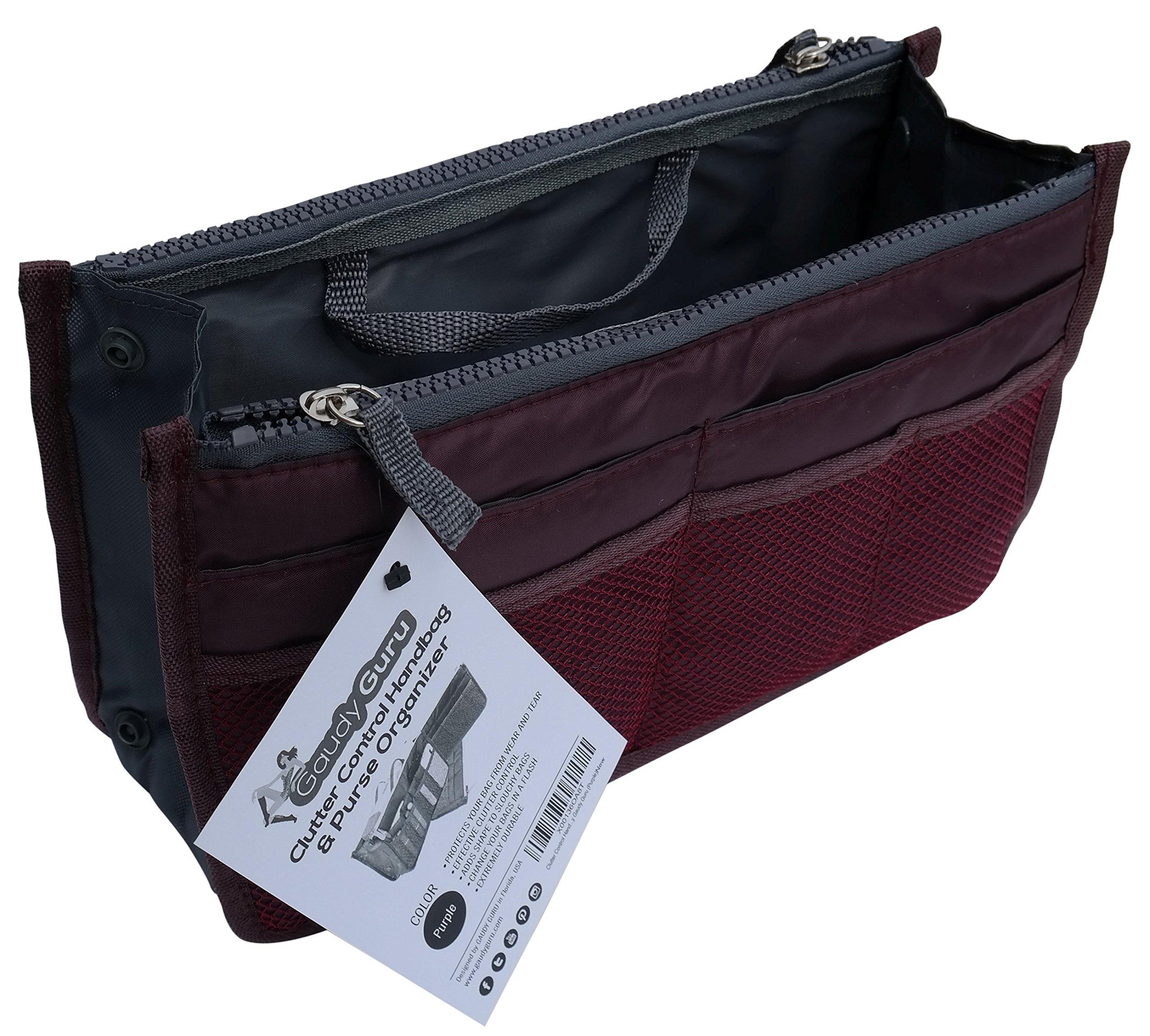 Gaudy Guru Clutter Control Handbag & Purse Organizer Insert (18.5 cm x 30 cm x 8.5cm)