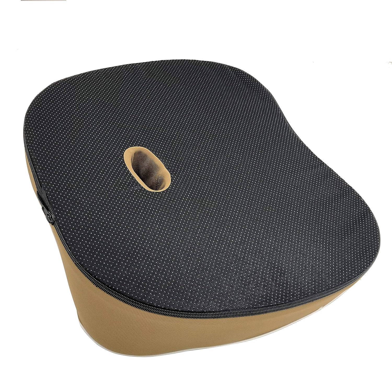 GENERAL ARMOR Lila Gel Sitzkissen /& Rollstuhl Sorgt F/ür Gerade K/örperhaltung Und Stei/ßbein-Entlastung Wirkt Schmerzreduzierend orthop/ädisch sitzkissen Stuhl F/ür Auto B/üro