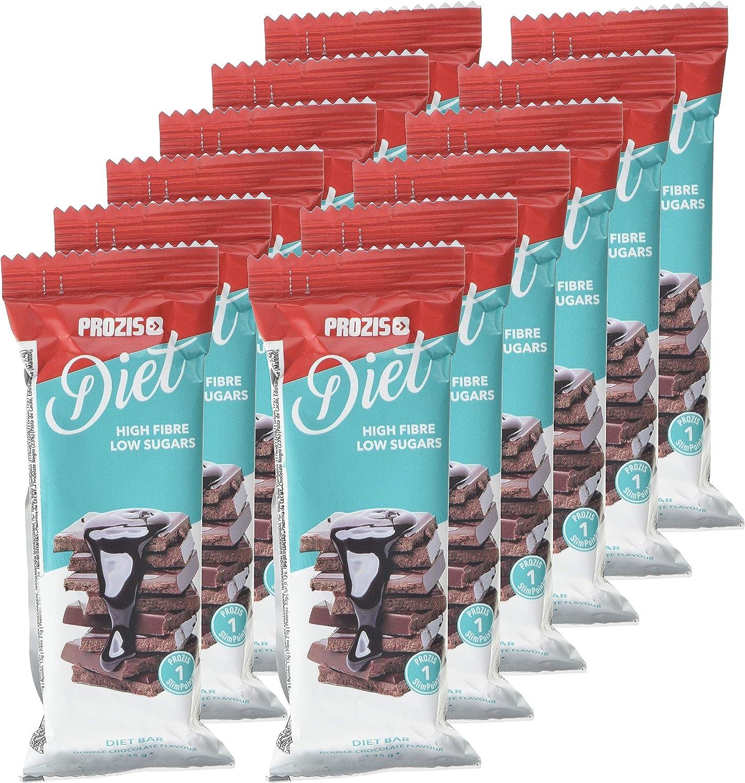 Prozis Diet Bar 12x35g - Delicioso Aperitivo Doble chocolate ...