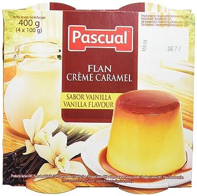 Pascual Flan Vainilla - Paquete de 4 x 100 gr - Total: 400 gr -