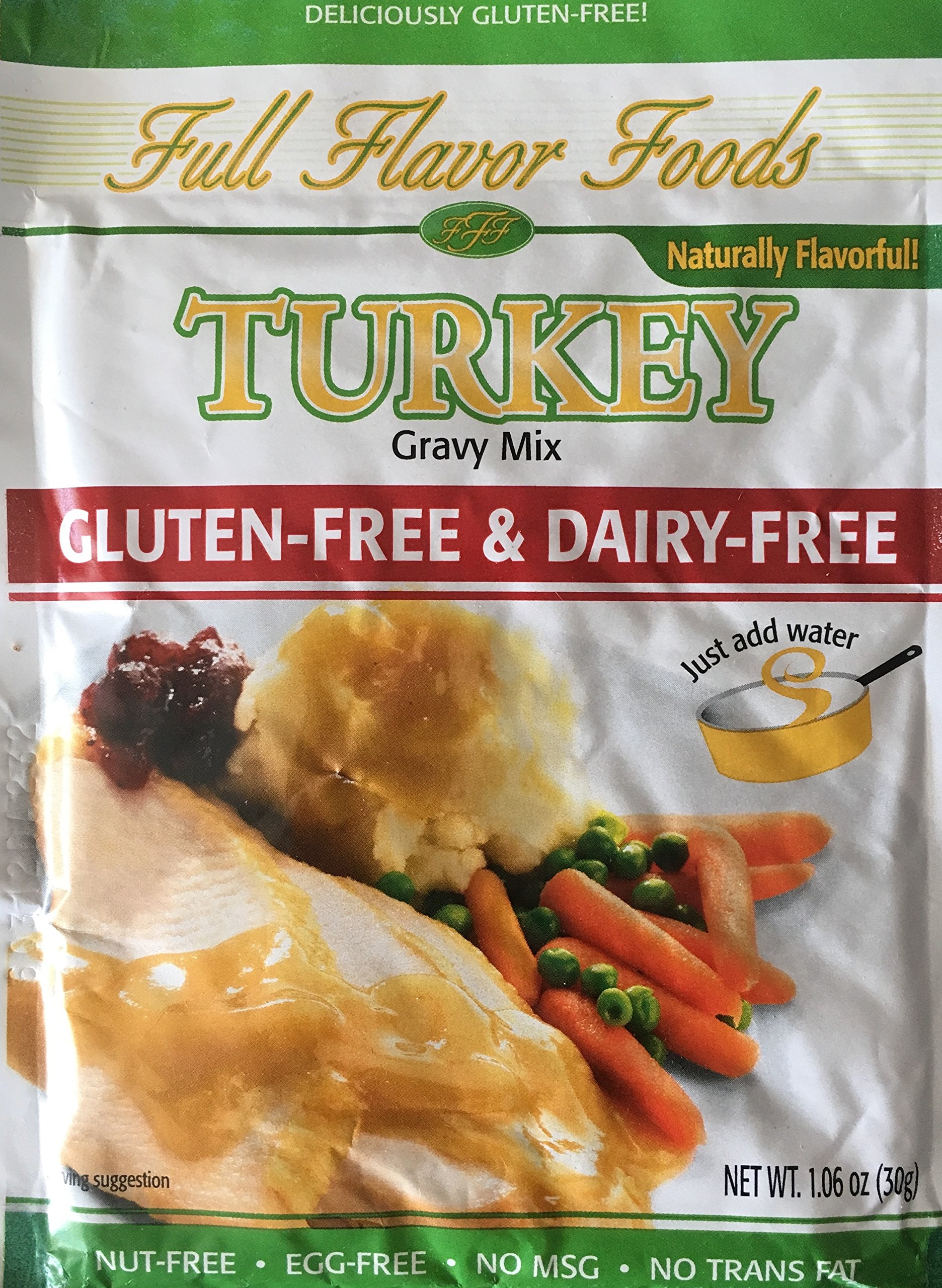 Gluten-Free & Dairy-Free Complete Turkey Gravy Mix, Pack of 3 by Full Flavor Foods