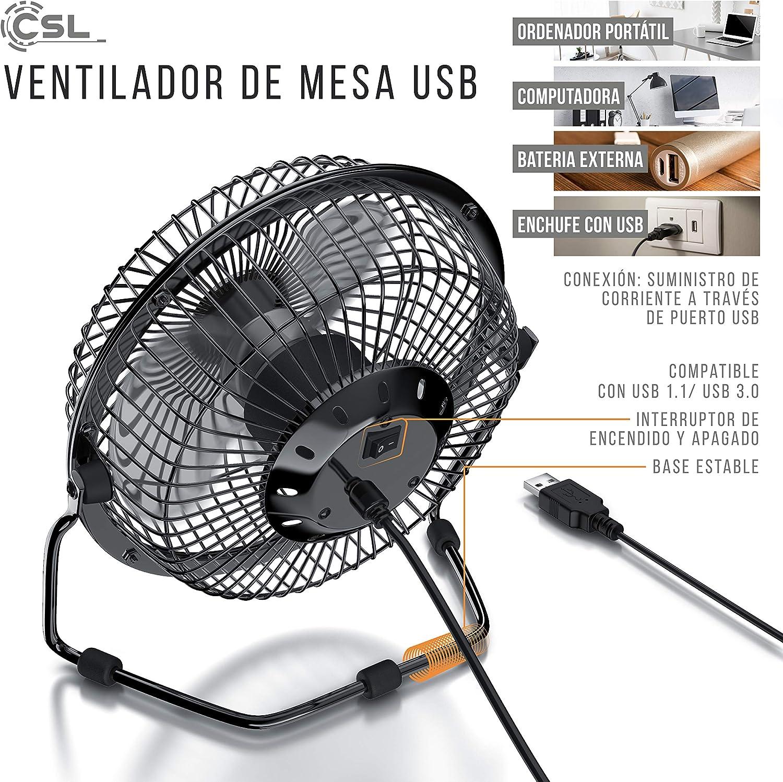 CSL - Ventilador USB - Ventilador de Mesa Ventilador: Amazon.es ...