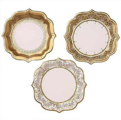 Amazon.com: TALKING TABLES PARTY PORCELAIN GOLD Talking Tables Gold ...