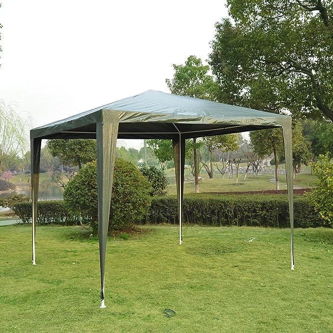 Jardín Gazebo Marquee resistente, 2, 7 x 2, 7 m-Green – homcom 2 ...