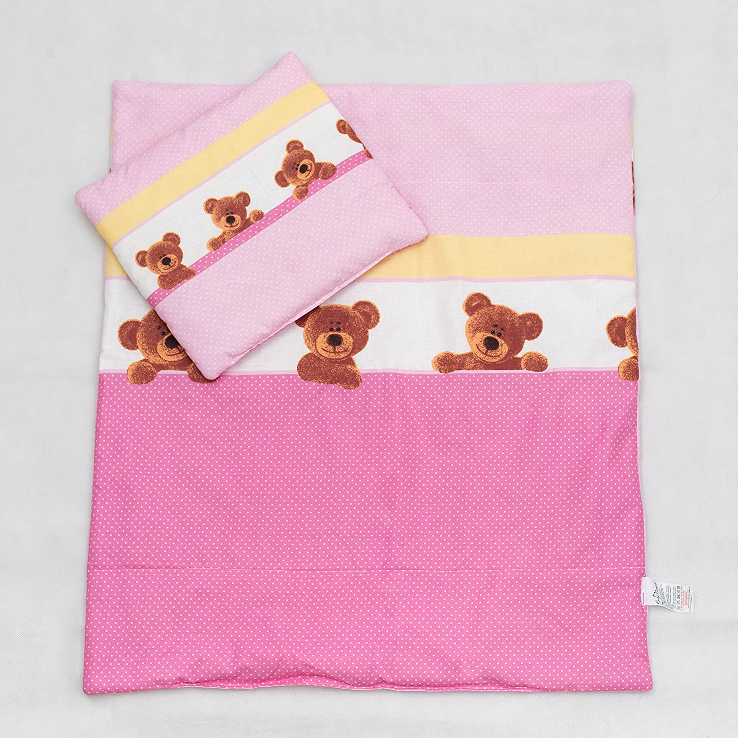 2 Pcs Duvet Filling Set 120x90 cm, Suits Cot - Pattern 1 BabyComfort