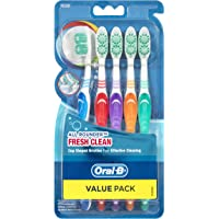 Oral-B All Rounder Fresh Clean Toothbrush Medium, 5 Pack