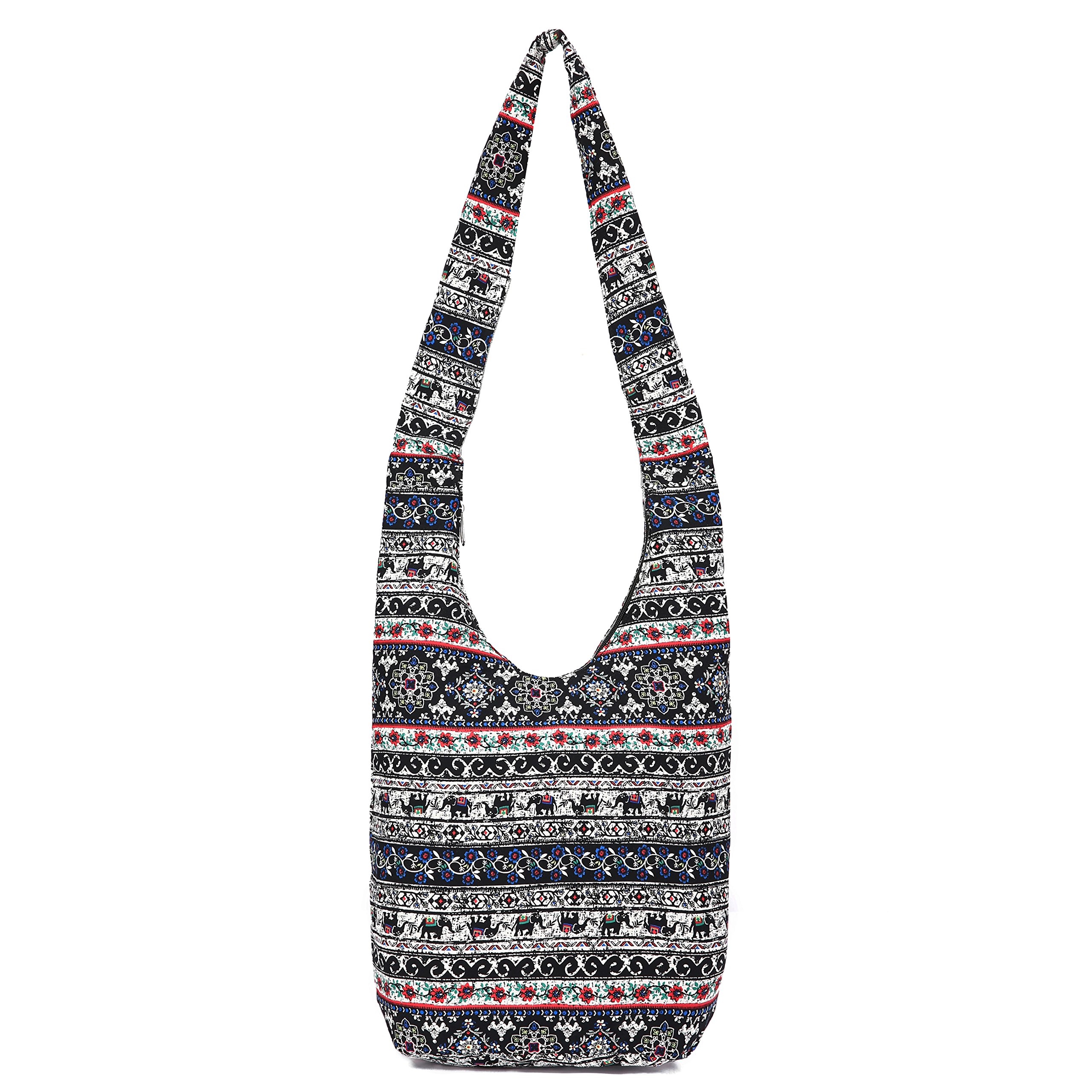 MIANZI Women Hand Fashion canvas Crossbody Bags Cotton Bohemian Animal Prints Hobo Bags (multi)