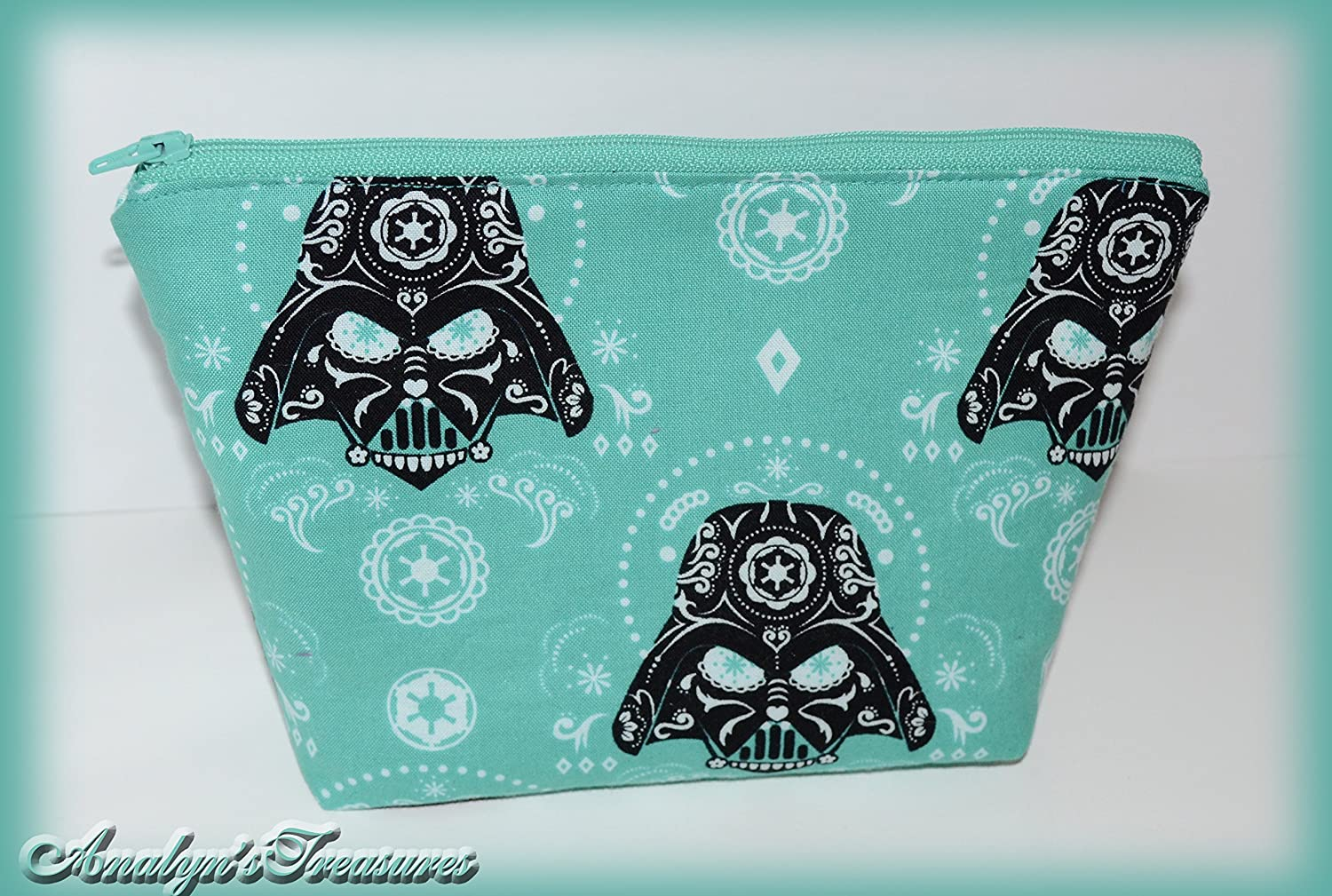 Quilted Cosmetic Bag, Make Up Bag, Star Wars Sugar Skull Darth Vader Cosmetic Bag, On The Go Bag, Cosmetic Pouch, Clutch Bag, Star Wars, Or Choose Other Design