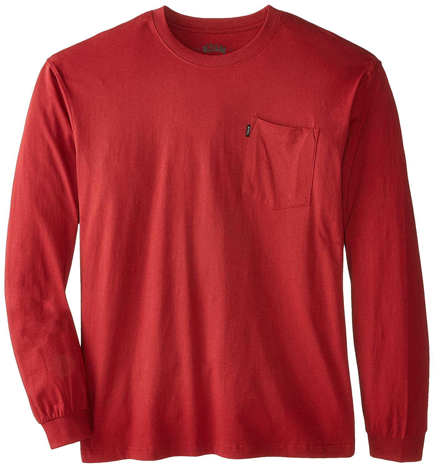 Key Apparel Men's Big-Tall Heavyweight Long Sleeve Pocket T-Shirt 860B