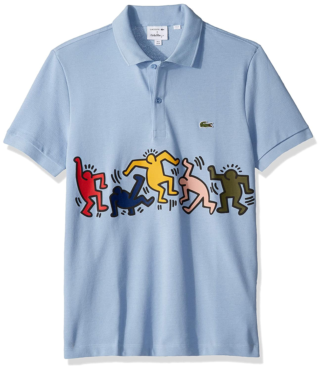 e4f897768410 Lacoste Men s S S Pique Graphic Polo Regular Fit at Amazon Men s Clothing  store