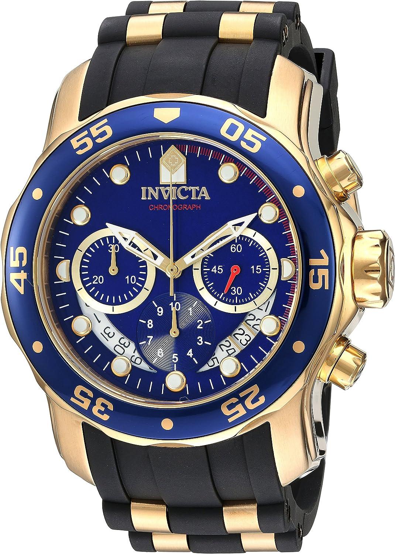 Invicta Men s Pro Diver Quartz Stainless Steel and Silicone Watch, Color Black Model 21929