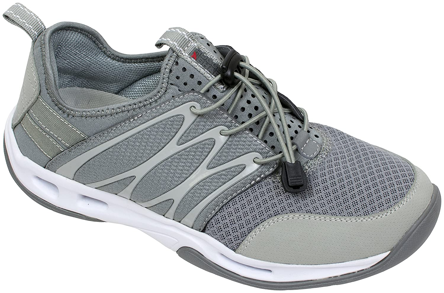 Rugged Shark Men's Slip-On Athletic Sneaker,Starboard, Breatheable Stretch Mesh, Size 8 to 13