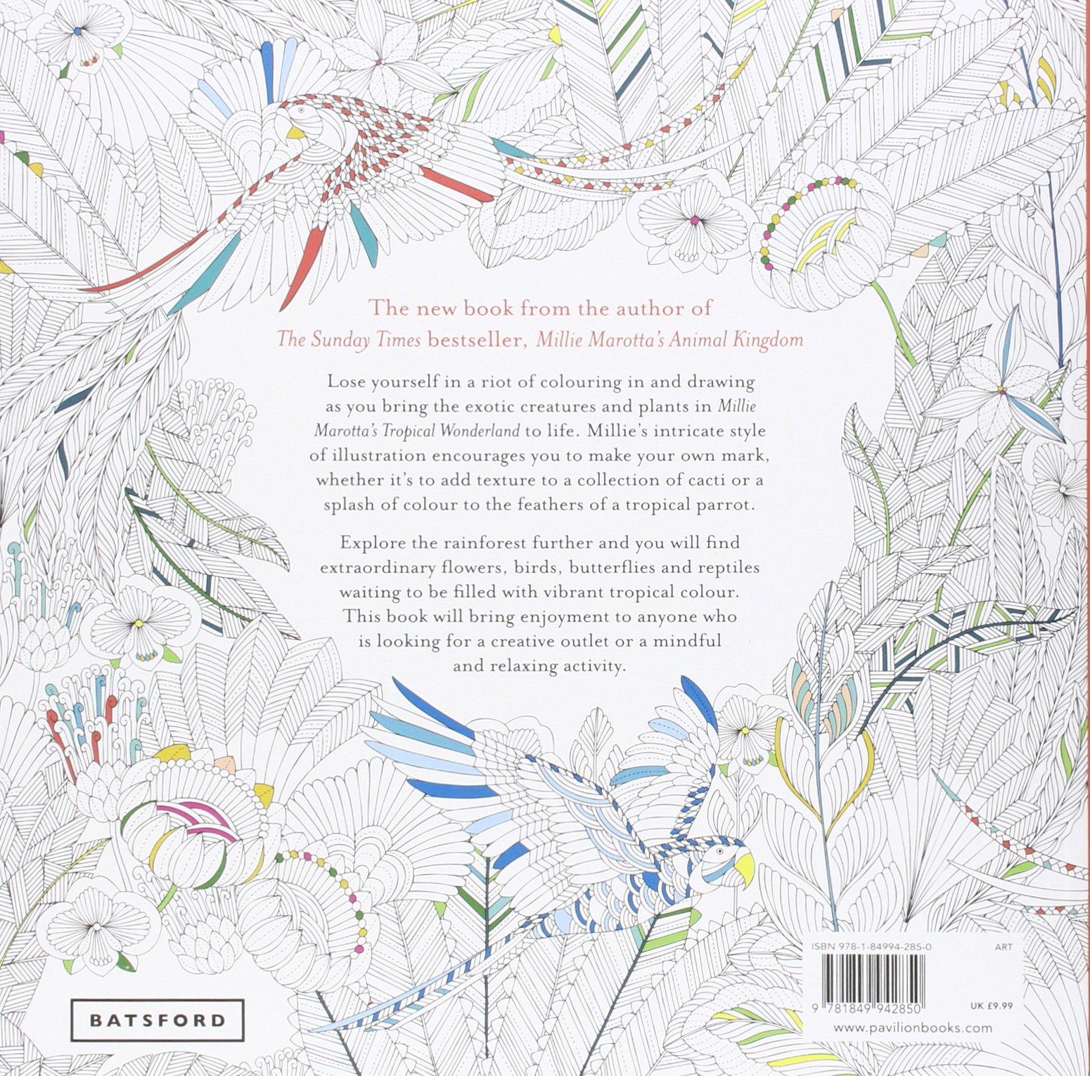 Millie Marottas Tropical Wonderland A Colouring Book Adventure Marotta 0787721945802 Books