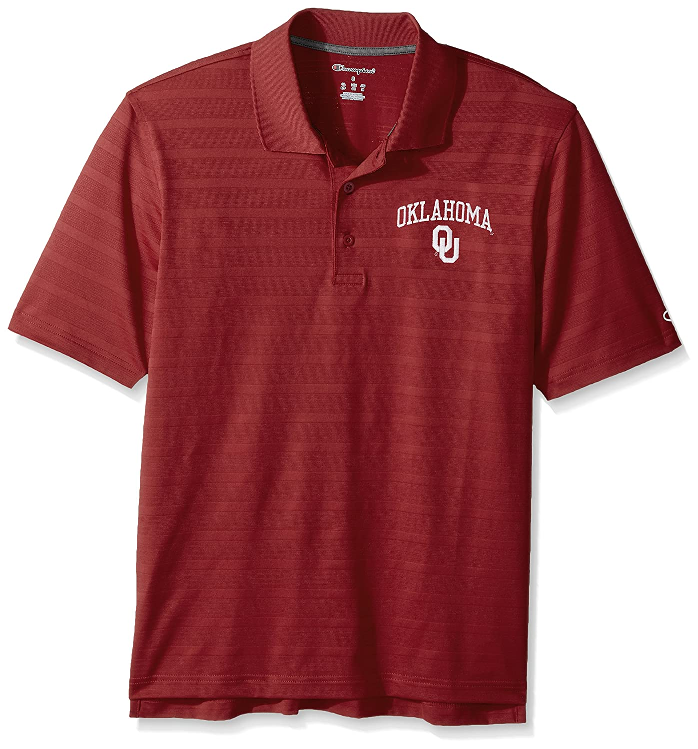 Oklahoma Sooners NCAA Champion Mens Textured Solid Polo X-Large