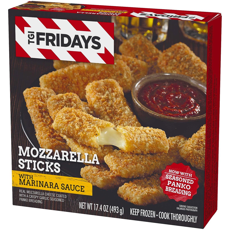 TGI Friday's Mozzarella Sticks with Marinara Sauce, 17 4 oz Box