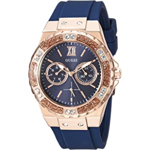Guess Rose Gold-Tone Pink Multifunction Watch