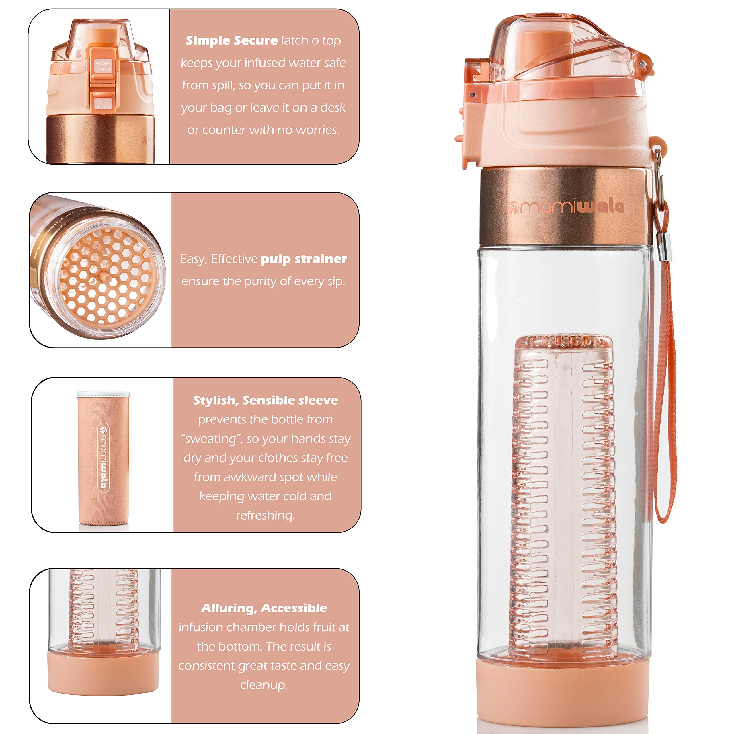 d58242288a MAMI WATA Fruit Infuser Water Bottle – Create Naturally Flavoured ...