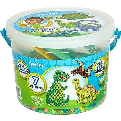 Perler Dinosaur Craft Bead Bucket Activity Kit 5004 Pcs