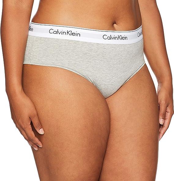 Calvin Klein - Bragas de bikini de algodón para mujer: Amazon.es ...