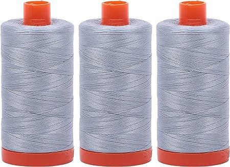 Paquete de 3 bobinas de hilo de algodón egipcio de 50 W de Aurifil ...