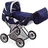 Muñecas Arias 40215 -  Coche de muñecas convertible con bolso manillar, color azul