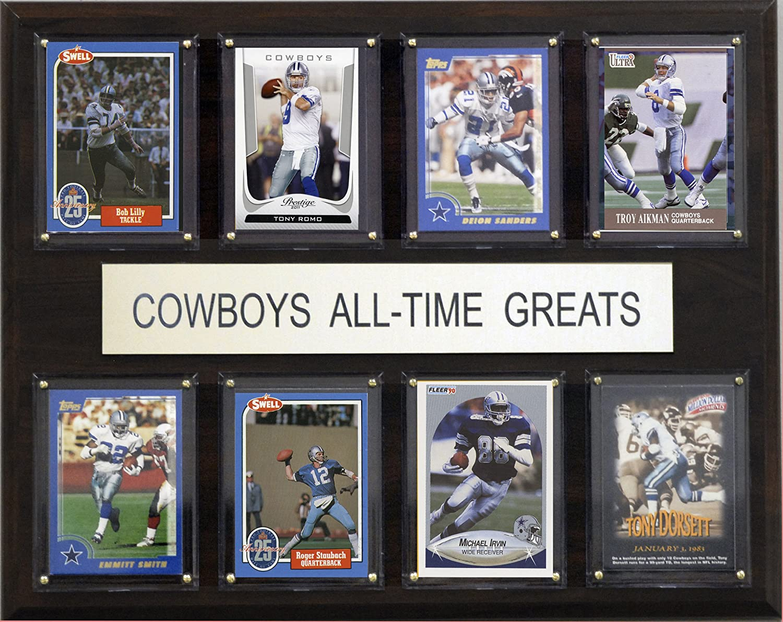 amazon com nfl dallas cowboys all time greats plaque art may amazon com nfl dallas cowboys all time greats plaque art may vary sports fan decorative plaques sports outdoors