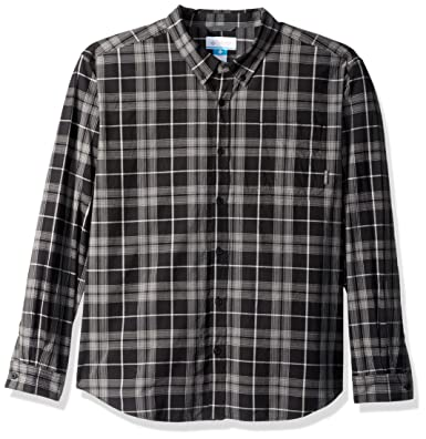 cb7a19b5f99 Columbia Men's Rapid Rivers Ii Long Sleeve Shirt, Black Plaid, Medium
