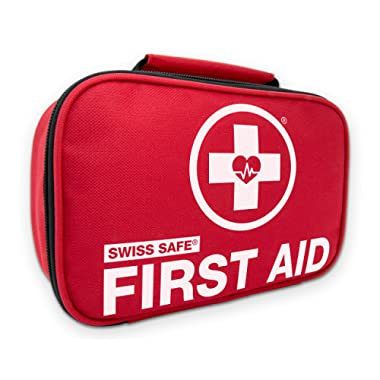 Swiss Safe 2-in-1 First Aid Kit (120 Piece) + Bonus 32-Piece Mini First Aid Kit: Compact for Emergency at Home, Outdoors, Car, Camping, Workplace, Hiking & Survival.