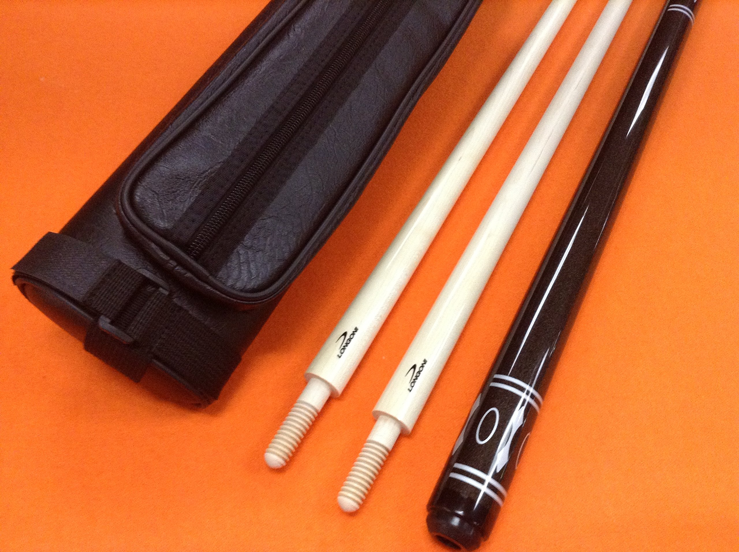 LONGONI CAROM CUE INSPIRATION WITH 2 SHAFTS & CASE.