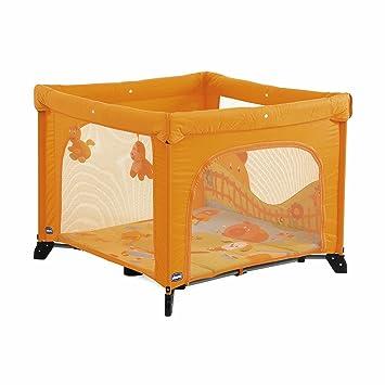 Chicco 61689170000 - Parque de viaje con puerta para bebé, color naranja