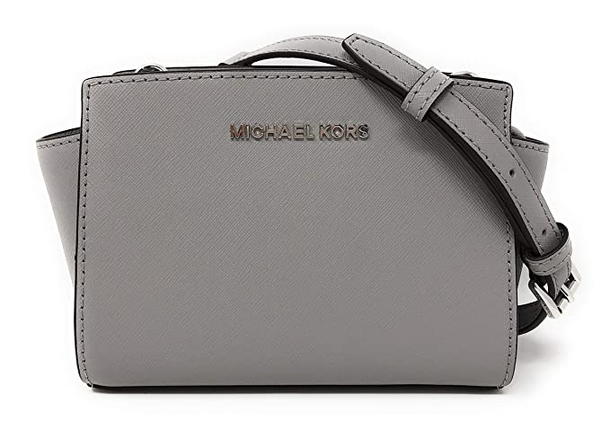9b9a41dedffa01 Michael Kors Selma Mini Saffiano Leather Crossbody Bag: Amazon.co.uk:  Clothing