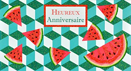 afie 69 - 4207 tarjeta feliz cumpleaños purpurina sandías ...