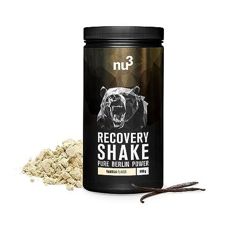 nu3 Recovery Shake | Proteína de recuperación sabor vainilla | 26g de proteína por porción |