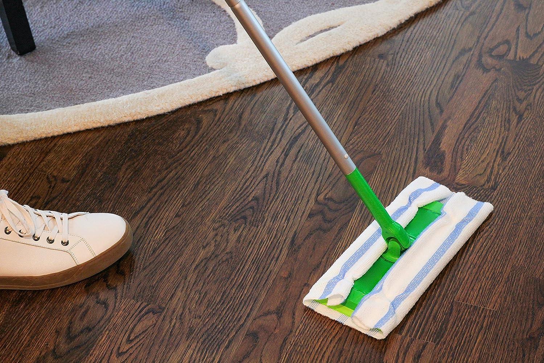 VIKING 539201 Bulk Edgeless Microfiber Cleaning Cloths 12 Inch x 12 Inch White and Blue Stripe 25 Pack