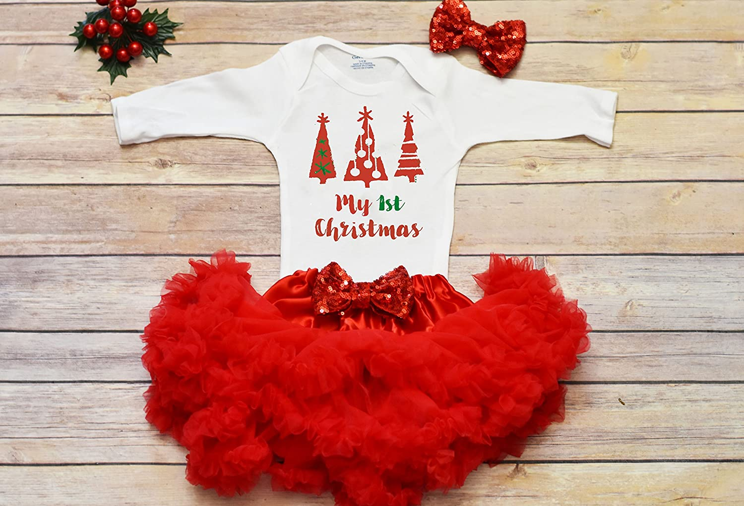 Baby First Christmas Outfit Baby First Christmas Bodysuit Christmas Outfit Baby Girl My 1st Christmas bodysuit First Christmas Girl