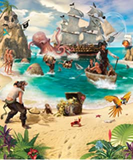 Walltastic 8 X 6.6 Ft Pirate And Treasure Adventure Mural Wall Paper Part 44