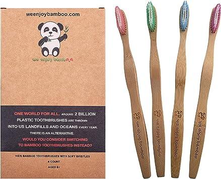 Cepillo de Dientes Madera de Bambú con Cerdas Medianos 100% Libre ...