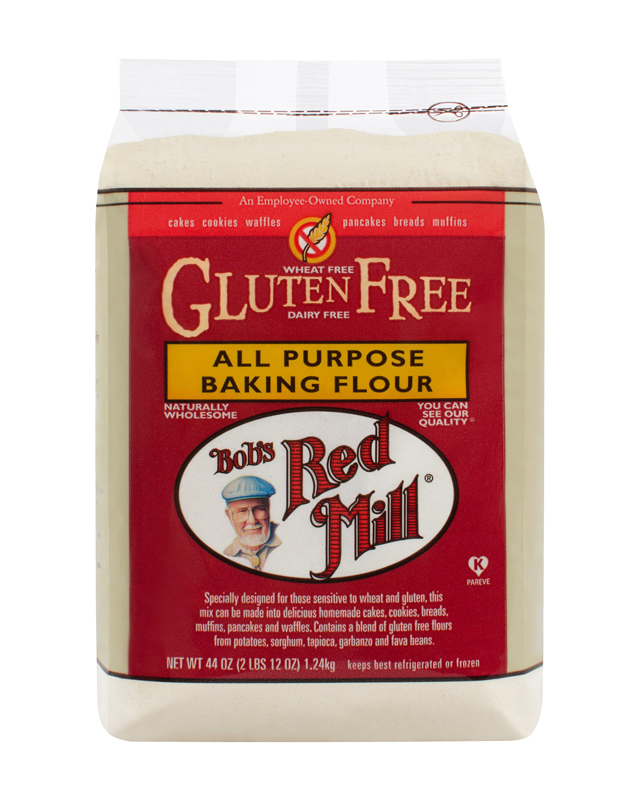 Bob's Red Mill Gluten Free All Purpose Baking Flour, 44 Oz (4 Pack) by Bob's Red Mill