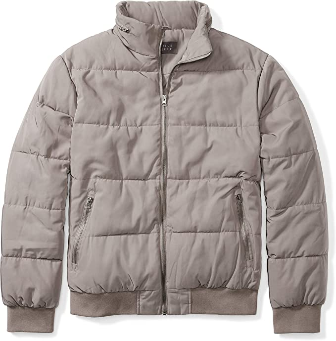 The Plus Project Men S Plus Size Quilted Jacket With Hidden Hood