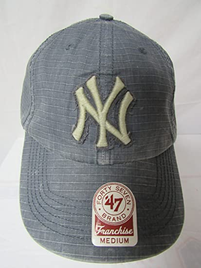 ef5badd0f4aa14 Amazon.com : 47 Twins New York Yankees Size Medium Yankees Smoke Jumper MLB  Franchise NY Baseball Cap Hat E1 229 : Clothing
