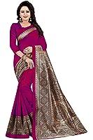 Rensila Women's Mysore Art Silk Sarees With Blouse Piece (GR_Wheel_Dark Pink)