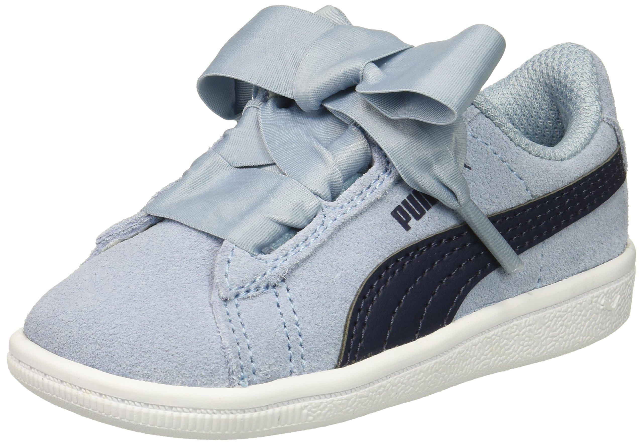 PUMA Baby Vikky Ribbon AC Kids Sneaker, Cerulean-Peacoat, 10 M US Toddler