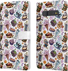 Lex Altern Wallet Case Compatible with Samsung Galaxy Note 20 Ultra 5G S20 S10 Plus S9 8 A71 A70 A50 A21 Kawaii Ice-Cream Snake Protective PU Leather Food Magnetic Ball Python Cute Flip walh085