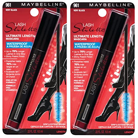Amazon.com : Maybelline New York Lash Stiletto Ultimate Length Waterproof Mascara Makeup, Very Black, 2 Count : Beauty
