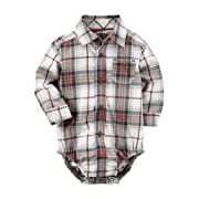 Carter's Baby Boys' Baby Boys Plaid Button Front Bodysuit 3 Months