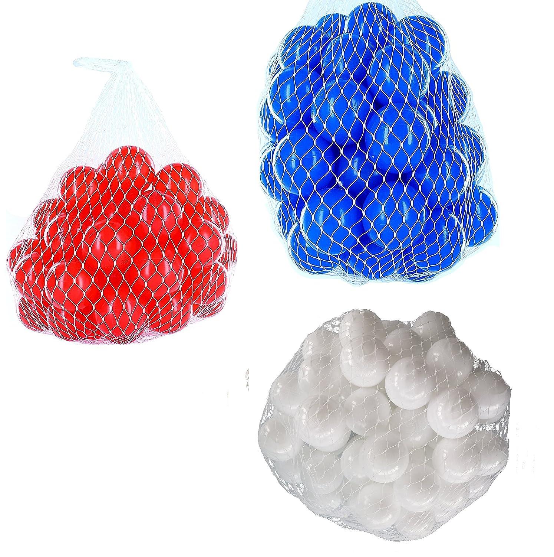 900 gemischt Bälle für Bällebad gemischt 900 mix mit weiß, blau und rot e90322