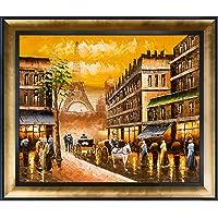 La Pastiche Pintura al óleo enmarcada Evening's Delight In Paris