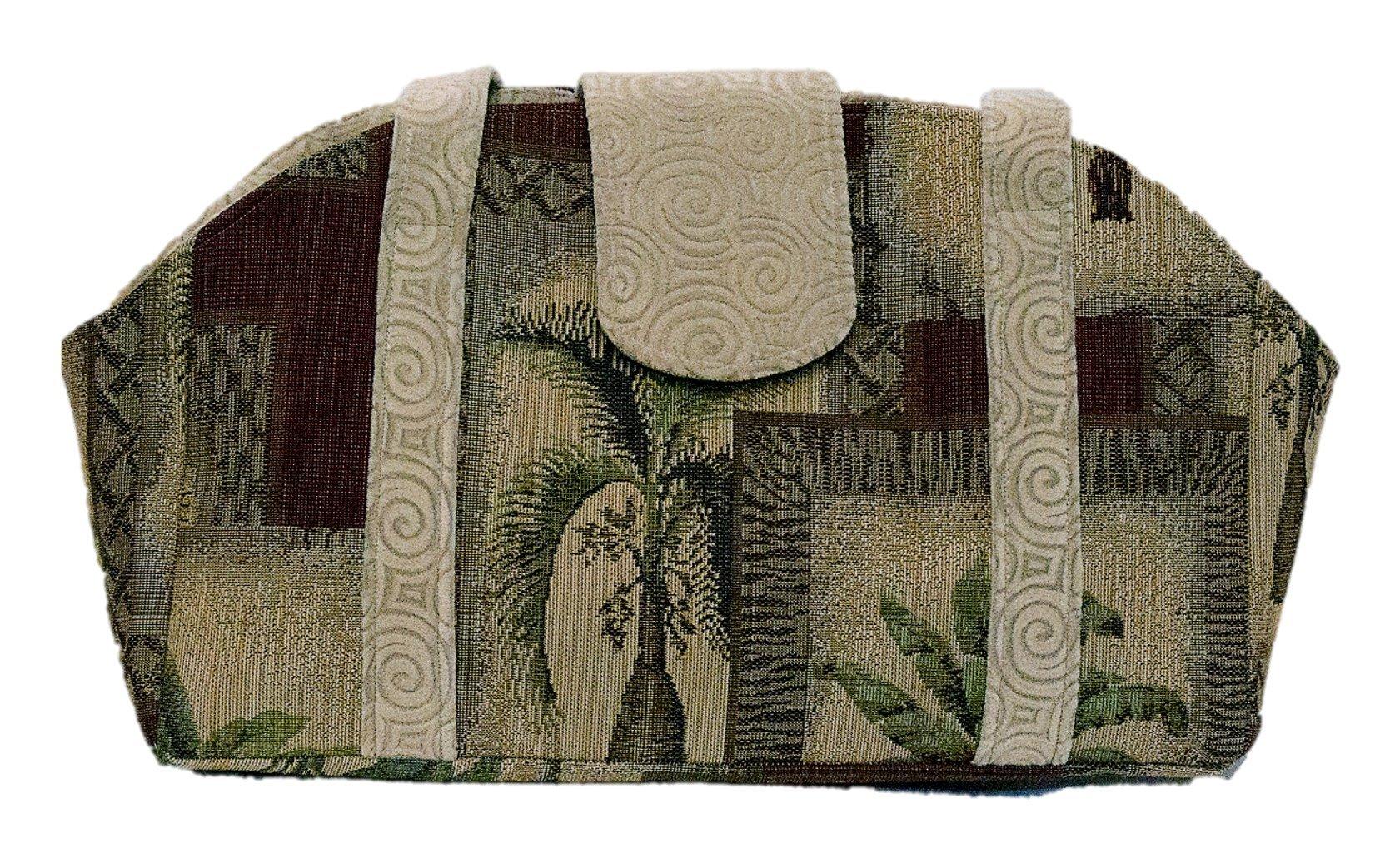 Desert Sand Swirls and Palms Pet Purse Carrier