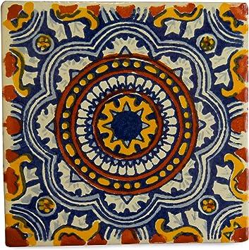 Azulejos Mexicanos Artesanales de Talavera de 10.5cm Pack de 25