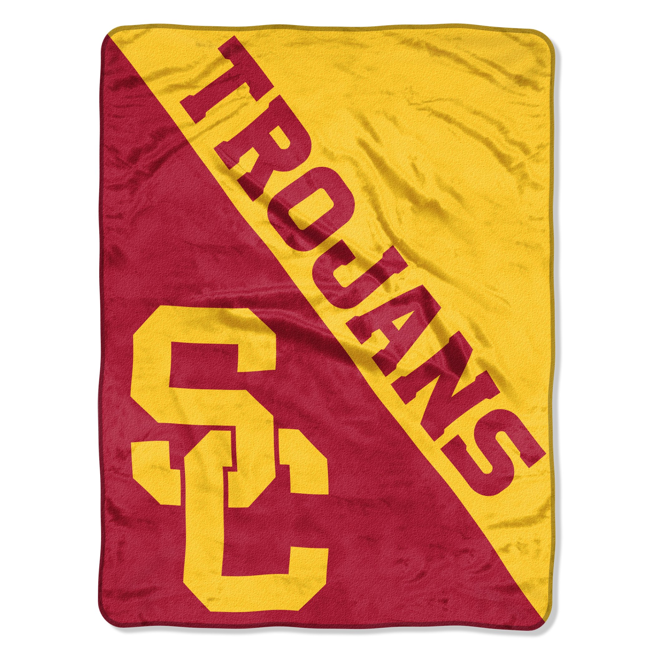 The Northwest Company Officially Licensed NCAA USC Trojans Halftone Micro Raschel Throw Blanket, 46'' x 60'', Multi Color by The Northwest Company